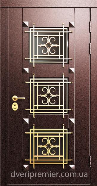 показать католог уличных входных дверей с ковкой и со стеклом
